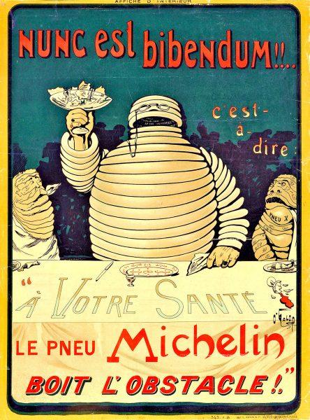 Plakat autorstwa Mariusa Rossillona (O'Galop) przedstawiający Bibenduma