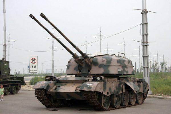 Type 80 - wieża ZSU-57-2 na podwoziu chińskiego czołgu