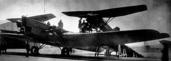 Tupolew TB-1 wykorzystywany podczas prób projektu Zwieno