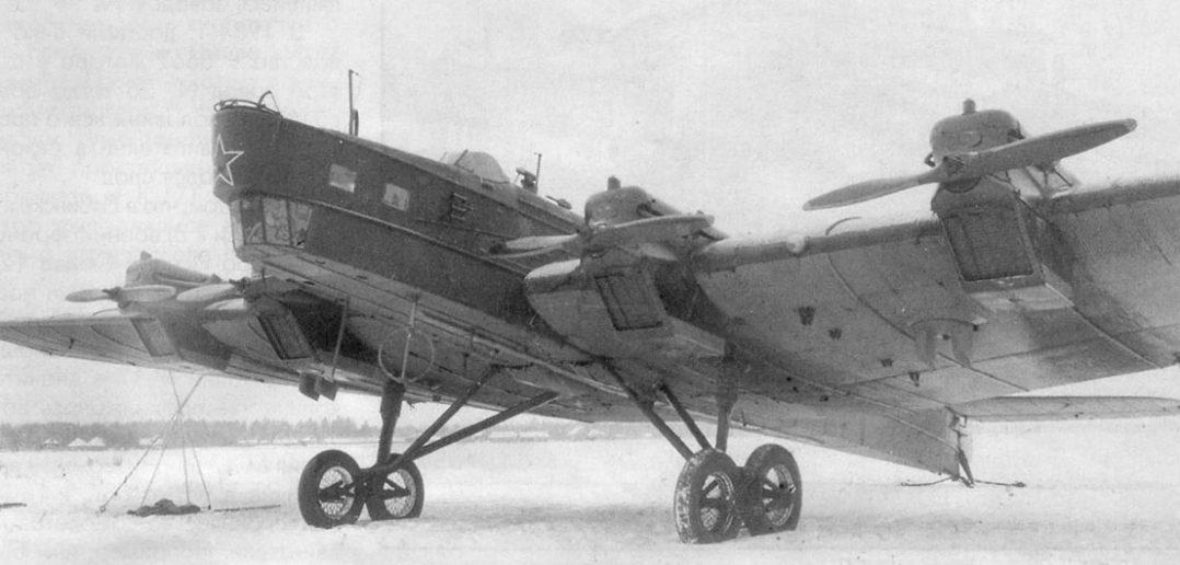 Radziecki bombowiec strategiczny Tupolew TB-3