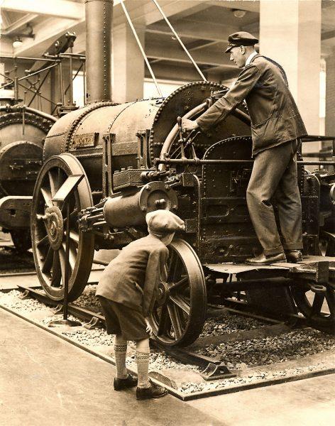 Parowóz Rocket w 1929 roku w Sciene Museum w Londynie