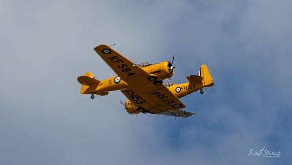 North American AT-16 Harvard IIB i Canadian Car & Foundry T-6H (fot. Michał Banach)