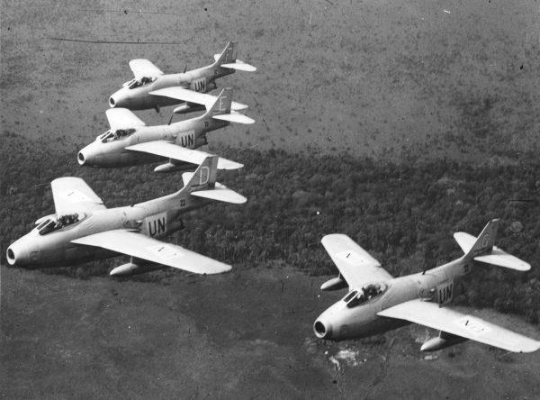 Saab J29 Tunnan w Kongo