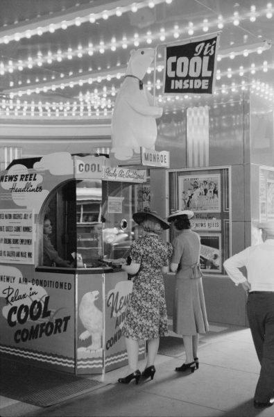 Klimatyzacja w kinach była początkowo większą atrakcją niż grane w nich filmy