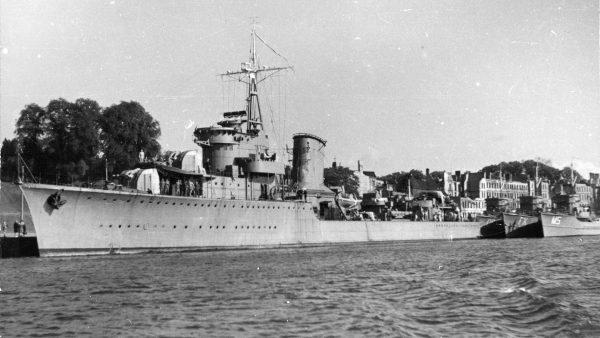 ORP Błyskawica już po wojnie (fot. Muzeum Marynarki Wojennej w Gdyni)