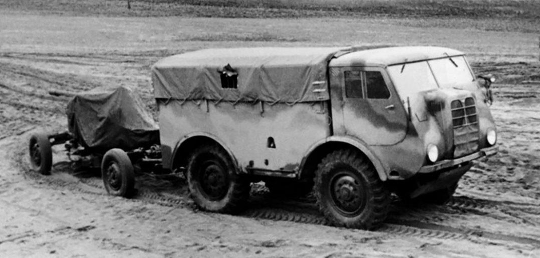 Polskie ciągniki artyleryjskie PZInż 342 i PZInż 343