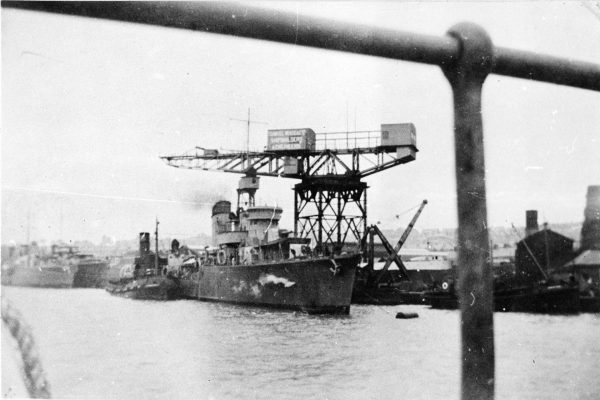 ORP Błyskawica podczas prób odbiorczych (fot. Muzeum Marynarki Wojennej w Gdyni)