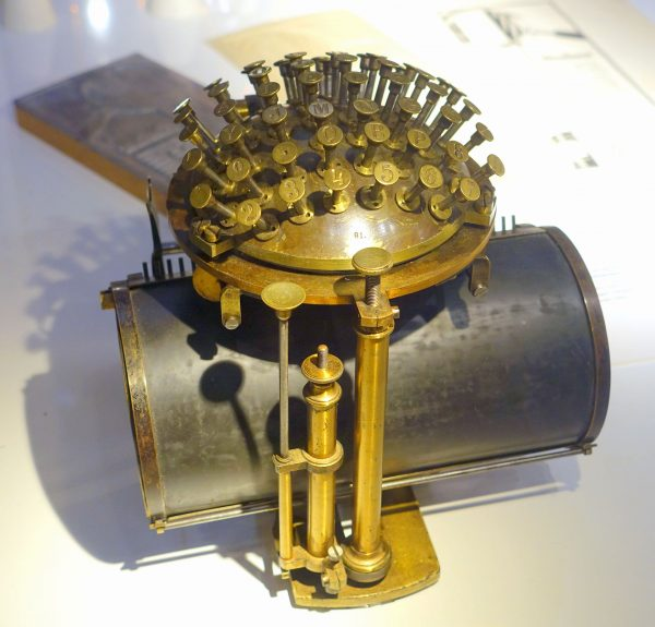 Hansen Writing Ball (fot. Wikimedia Commons)