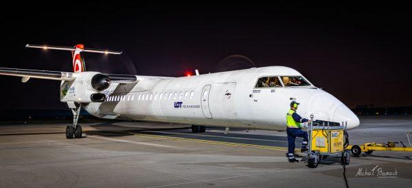 Bombardier Dash 8 Q400 (SP-EQC) (fot. Michał Banach)