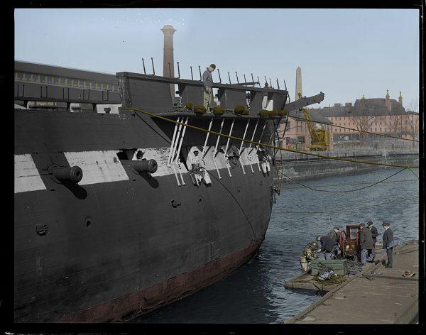 USS Constitution podczas remontu w 1927 roku