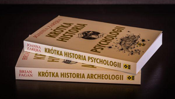 Krótka historia archeologii i Krótka historia psychologii od wydawnictwa RM