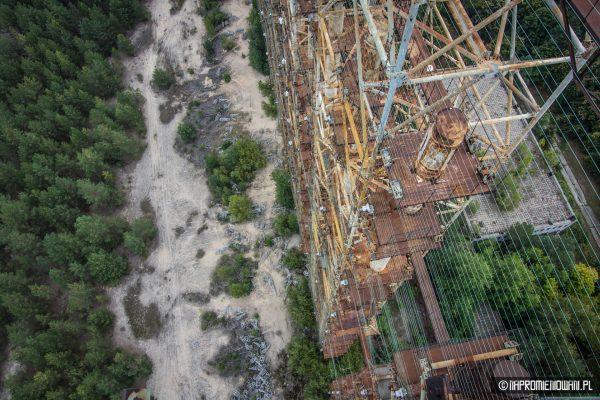 Antena odbiorcza radaru Duga w Czarnobylu (fot. napromieniowani.pl)