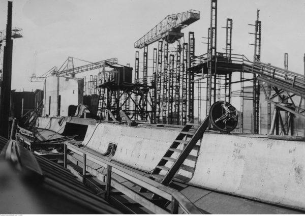 ORP Orzeł podczas budowy (fot. NAC)