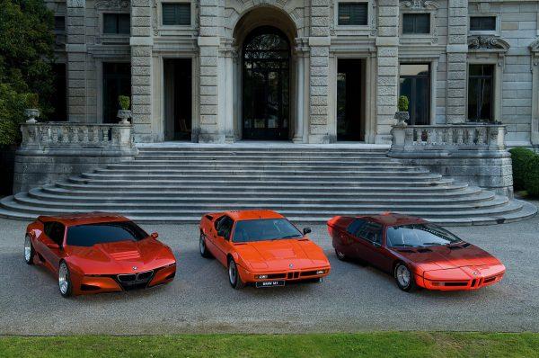 BMW M1 Homage concept (grafika) (2008), BMW M1 i BMW Turbo (1972) (fot. BMW AG)