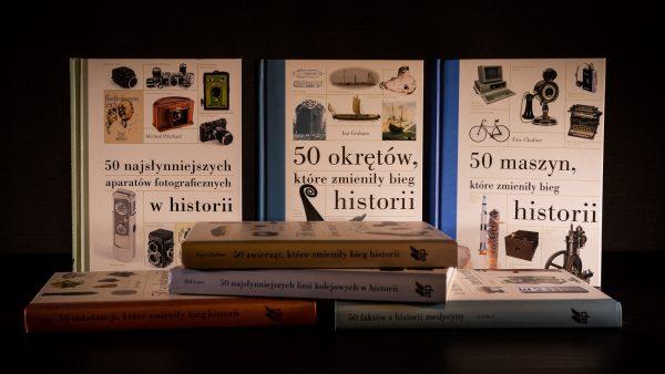 """Książki z serii """"50 najsłynniejszych"""" od wydawnictwa Almapress"""