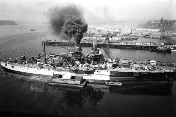 USS Utah po przebudowie na okręt szkoleniowy