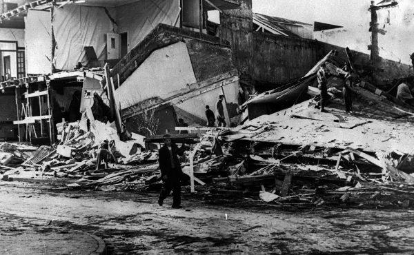 Ruiny miejscowości Prueto Montt - 31 maja 1960 roku