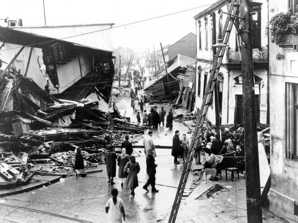 Ruiny miejscowości Valdivia - 31 maja 1960 roku