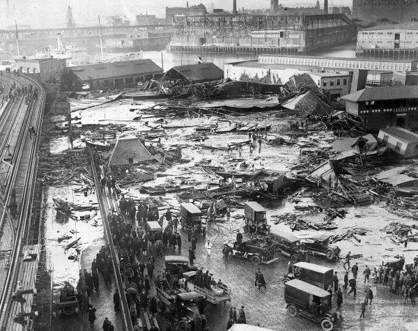 Skutki wielkiej powodzi melasy w Bostonie