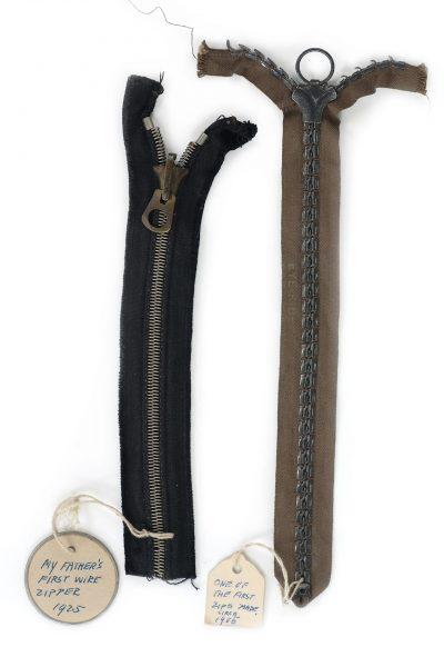 Jedne z pierwszych zamków błyskawicznych z 1925 i 1905 roku (fot. makeitcoats.com)