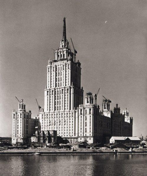 Hotel Ukraina podczas budowy