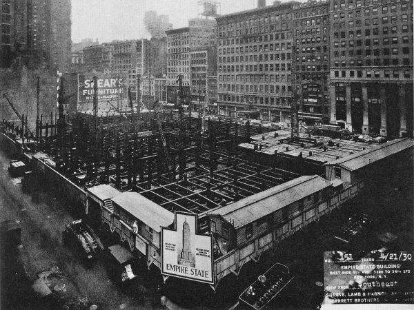 Budowa fundamentów pod Empire State Building