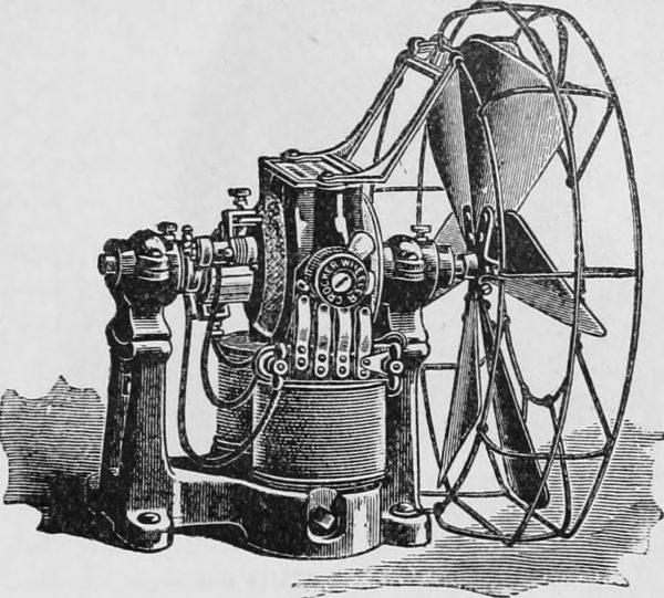 Projekt jednego z pierwszych wentylatorów elektrycznych