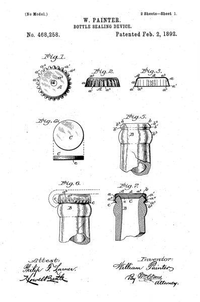Patent na kapsel do butelek