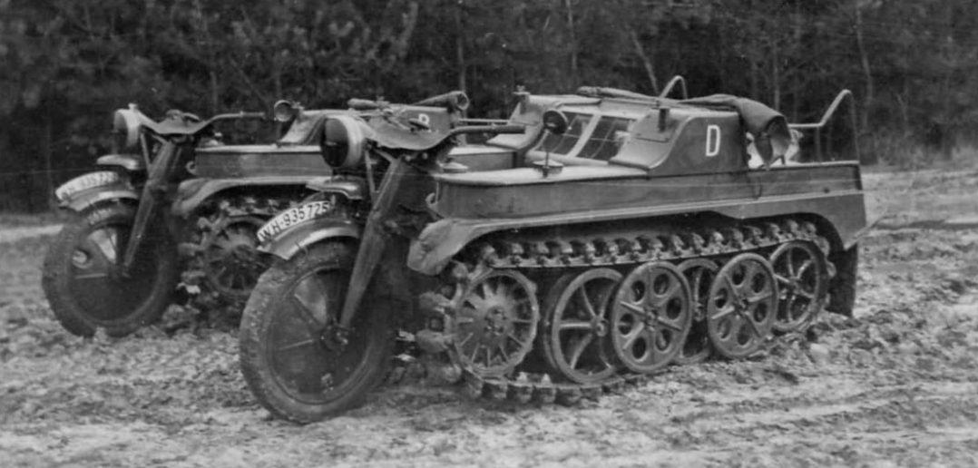 Sd.Kfz.2 Kettenkrad - niemiecki motocykl gąsienicowy