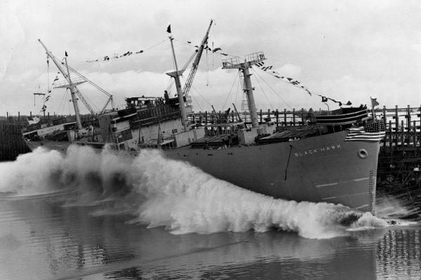 Wodowanie SS Black Hawk, 18 stycznia 1943 roku - czas budowy 41 dni
