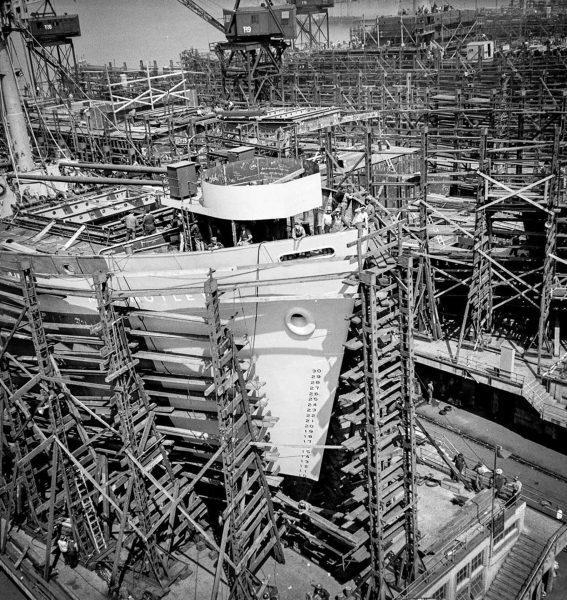 Statki typu Liberty podczas budowy