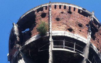 Wieża ciśnień w Vukovar - symbol wojny o niepodległość Chorwacji