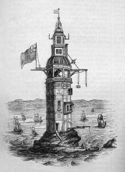 Tak wyglądała pierwsza latarnia morska zbudowana na Eddystone Rocks