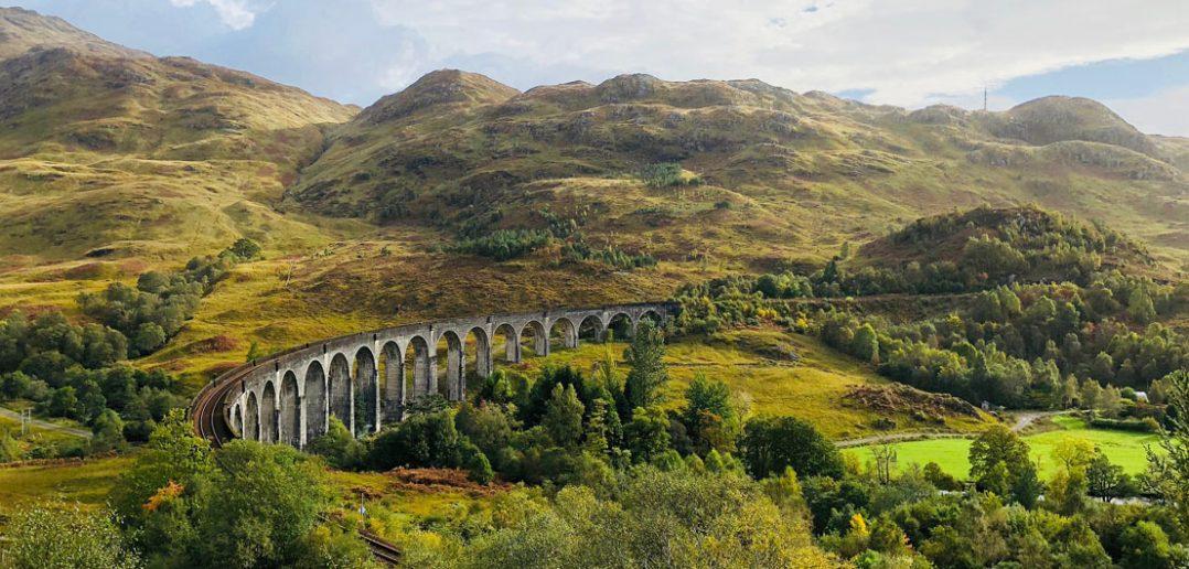 Wiadukt Glenfinnan w Szkocji