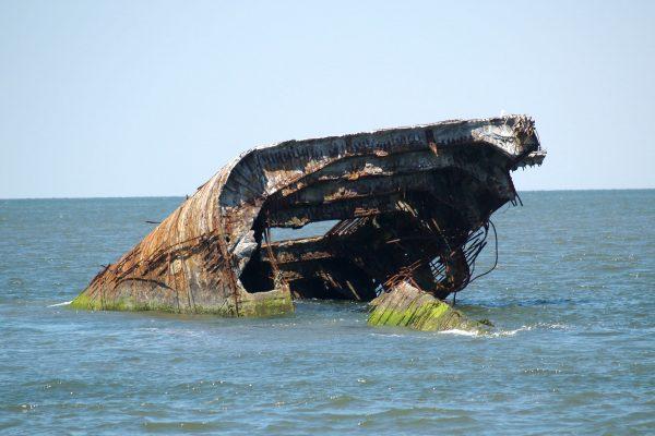 Wrak betonowca SS Atlantus (fot. Luigi Novi)