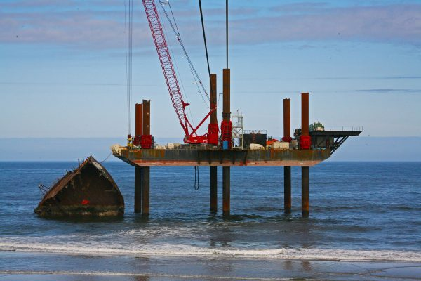 Titan Maritime podczas operacji usuwania resztek rufy New Carissa