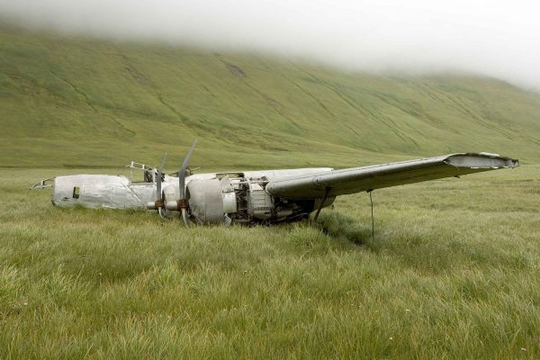 Wrak bombowca B-24D Liberator na wyspie Atka (fot. Hillebrand Steve)