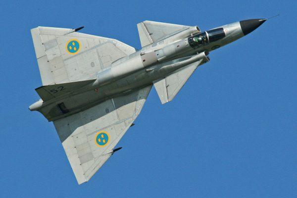 Saab JA37 Viggen (fot. Alan Wilson)