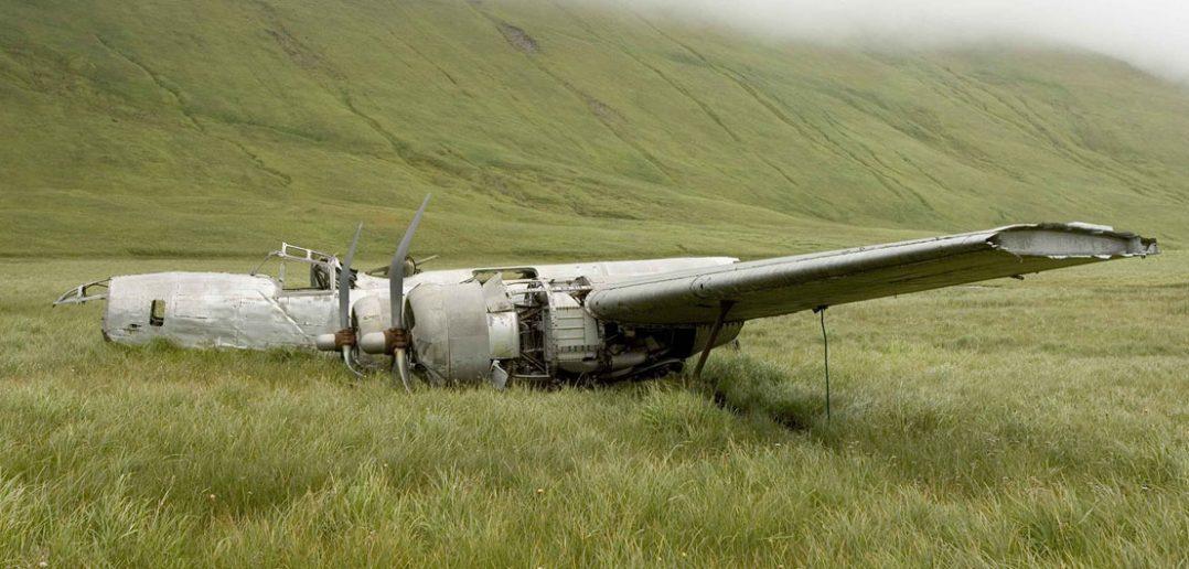 Wrak bombowca B-24D Liberator na wyspie Atka