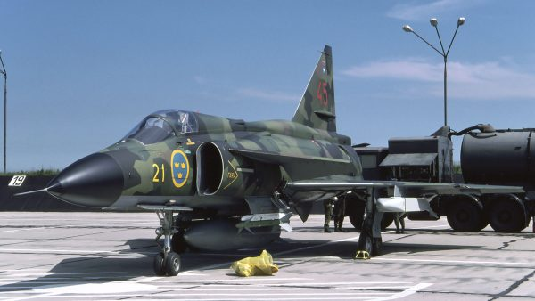 Saab AJS37 Viggen (fot. Rob Schleiffert)