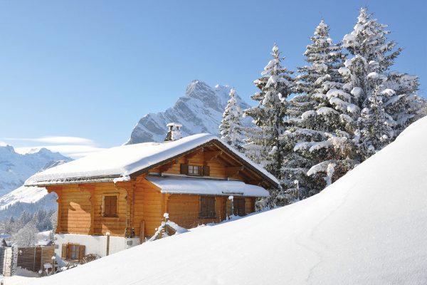 Miłośnicy zimowych wypadów wakacyjnych również znajdą wiele ciekawych domów w Szwajcarii
