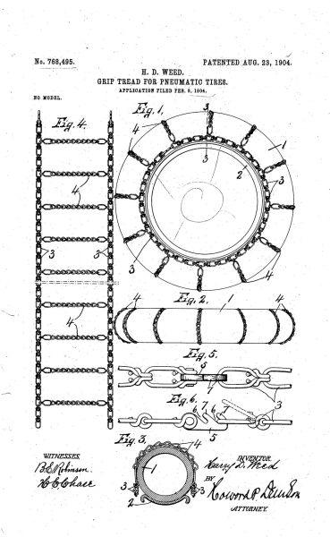 Patent na łańcuch przeciwślizgowy Weeda