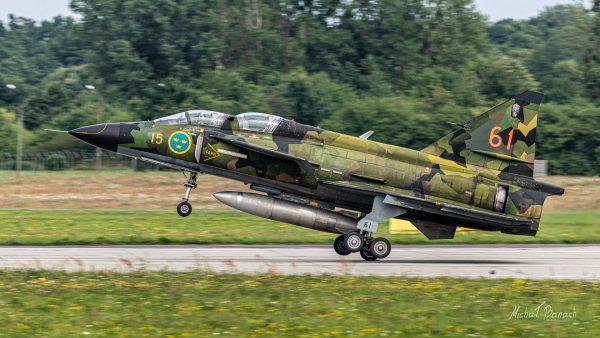Saab Sk37E Viggen (fot. Michał Banach)