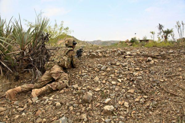 Stosowany współcześnie w amerykańskiej armii kamuflaż dostosowany jest bardzo dobrze do teatru działań