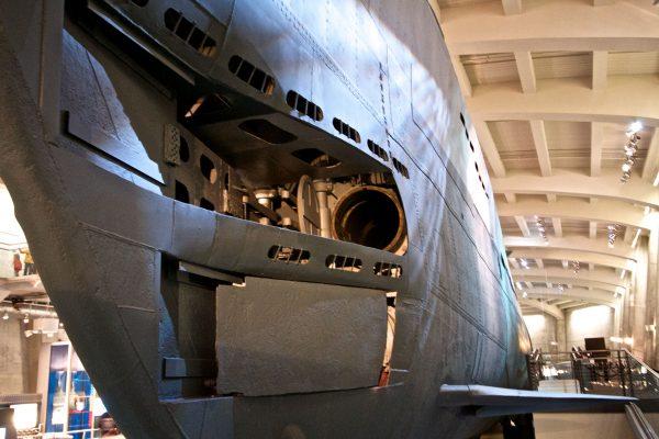 U-505 współcześnie w muzeum w Chicago (fot. JHO Henderson/Wikimedia Commons)