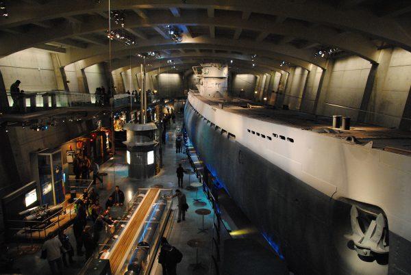 U-505 współcześnie w muzeum w Chicago (fot. Leandro Neumann Ciuffo)