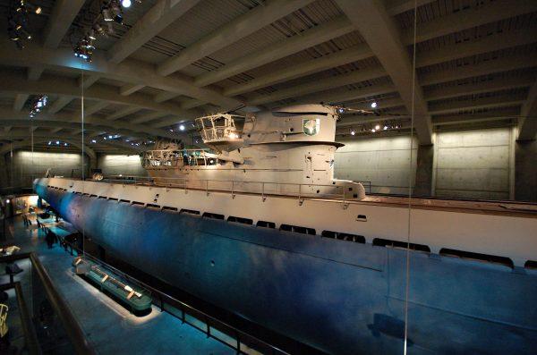 U-505 współcześnie w muzeum w Chicago (fot. Aaron Headly)