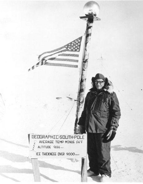 Talbert Adams podczas wyprawy w ramach operacji Deep Freeze
