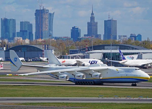 Antonow An-225 Mrija podczas trzeciej wizyty w Polsce (fot. Piotr Bożyk/PAŻP)