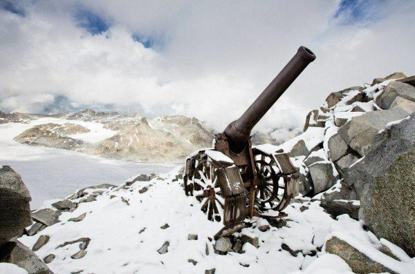 Cannone da 149/23 na szczycie Cresta Croce (fot. nieznany)